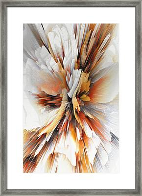 Framed Print featuring the digital art Sculptural Series Digital Painting 22.120210eext290lsqx2 by Kris Haas