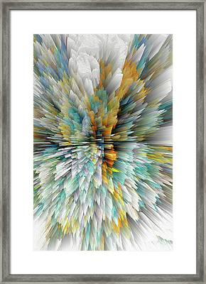 Framed Print featuring the digital art Sculptural Series Digital Painting 23.102011windextsc590l by Kris Haas