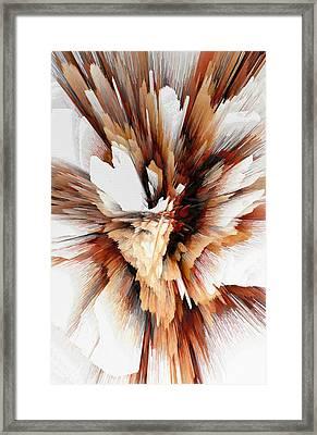 Framed Print featuring the digital art Sculptural Series Digital Painting 23.120210ext5100l by Kris Haas
