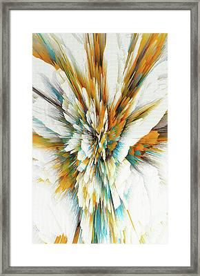 Framed Print featuring the digital art Sculptural Series Digital Painting 05.072311ex590lvs.jpg  by Kris Haas