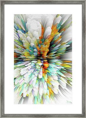 Framed Print featuring the digital art Sculptural Series Painting23.102011windblastsccvsext4100l by Kris Haas