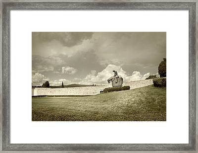 Framed Print featuring the photograph Sculpture - Assisi by John Hix