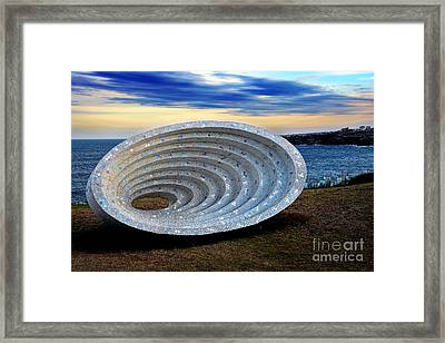 Sculpture By The Sea - Space Time Continuum By Kaye Menner Framed Print by Kaye Menner