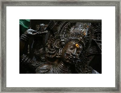 Sculpture Framed Print by Deepak Pawar