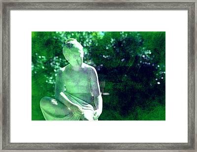 Sculpture In A Park Framed Print by Susanne Van Hulst