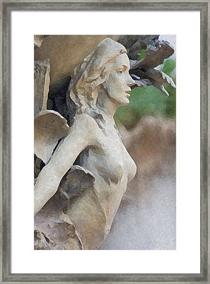 Sculpture Of Angelic Woman Framed Print by Christopher Purcell