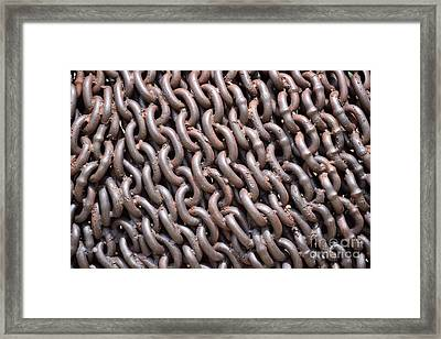 Sculpture Of Chain Framed Print