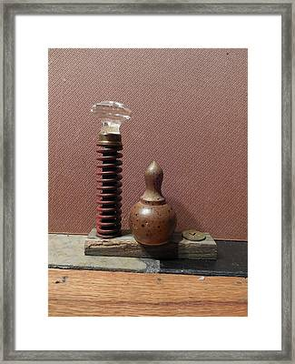 Sculpture On Cemetery Wood Two Framed Print