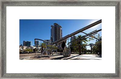 Sculpture, Parc De La Diagonal Mar Framed Print by Panoramic Images