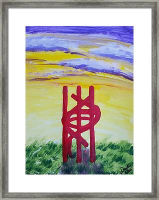 Framed Print featuring the painting Sculpture Park by Carol Duarte