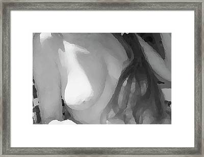 Sculptured Breasts Framed Print by Nancy Taylor