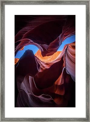 Sculptures Of Desert Framed Print by Edgars Erglis