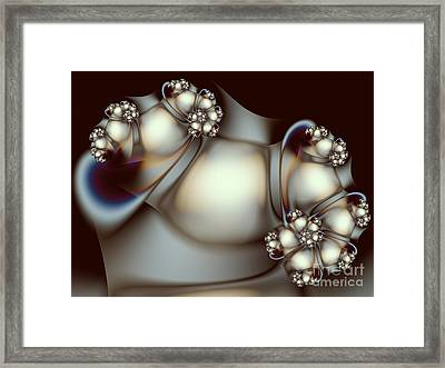 Framed Print featuring the digital art Sculpture by Karin Kuhlmann