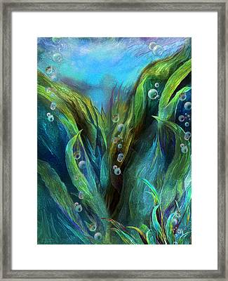 Sea Abstract 1 Framed Print by Carol Cavalaris