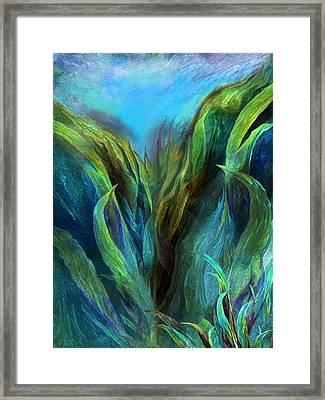 Sea Abstract 2 Framed Print by Carol Cavalaris