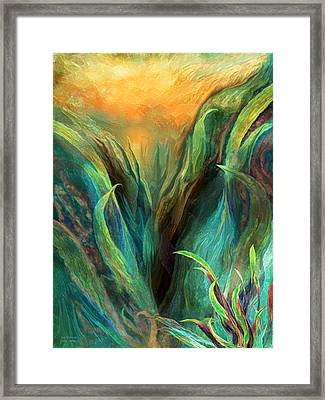 Sea Abstract 3 Framed Print by Carol Cavalaris