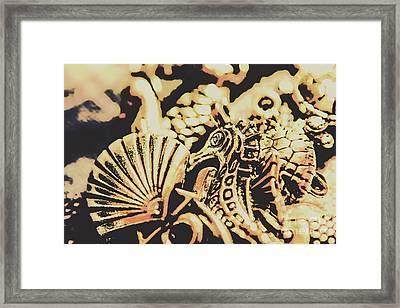 Sea Abstract From The Nautics  Framed Print