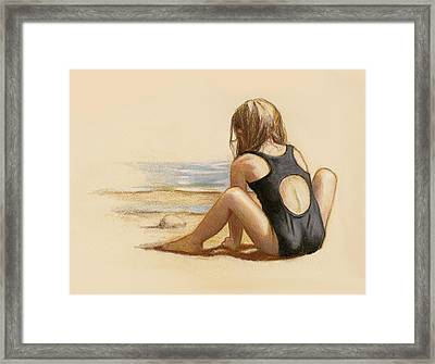 Sea And Sand Framed Print