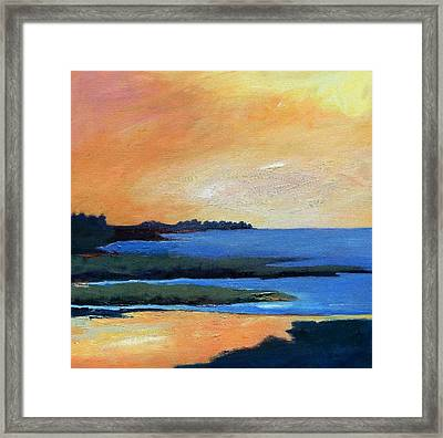 Framed Print featuring the painting Sea And Sky by Gary Coleman