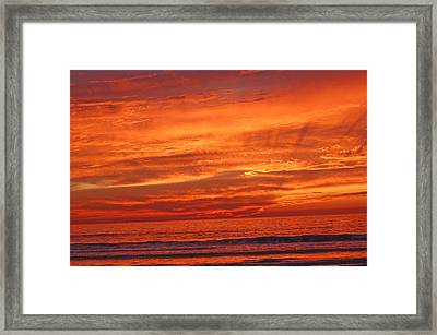 Sea And Sky Framed Print by Jean Booth