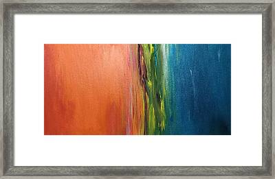 Sea And Sky Metallic Framed Print