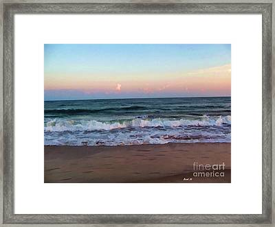 Framed Print featuring the photograph Sea And Sky by Roberta Byram