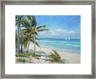 Sea Beach 12 - Punta Cana Framed Print