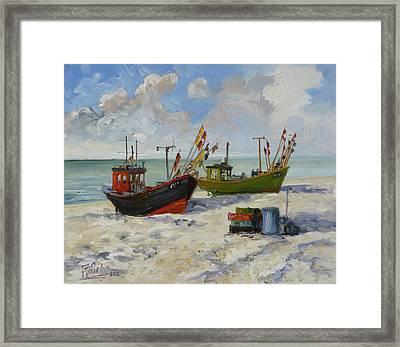 Sea Beach 3 - Baltic Framed Print