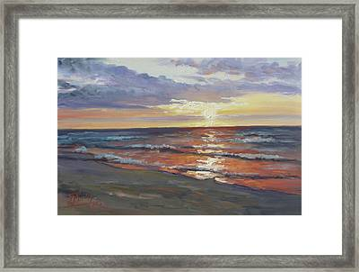 Sea Beach 8 - Baltic Sunset Framed Print
