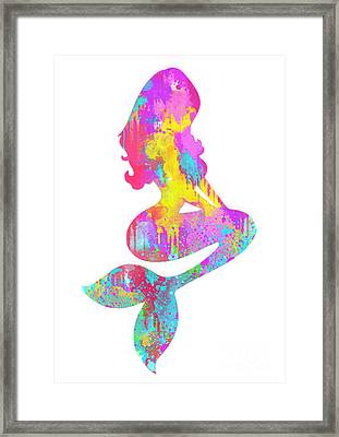 Ariel  The Little Mermaid Framed Print by Prar Kulasekara