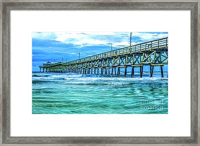 Sea Blue Cherry Grove Pier Framed Print