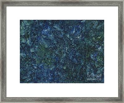 Sea Blue, Sea Green Framed Print