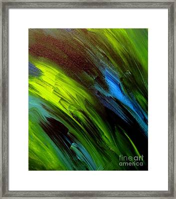 Sea Breeze Abstract Framed Print by Shelly Wiseberg
