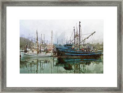 Sea Breeze And Lady Law Framed Print