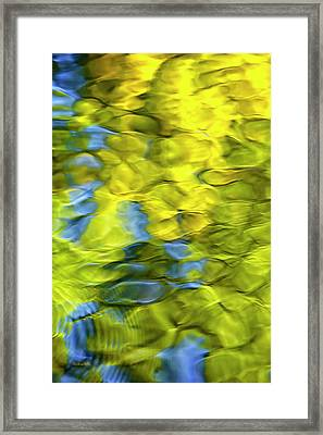 Sea Breeze Mosaic Abstract Framed Print by Christina Rollo