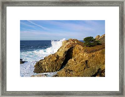 Framed Print featuring the photograph Sea Cave Big Sur by Floyd Snyder