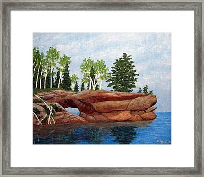Sea Cave Framed Print by Frederic Kohli