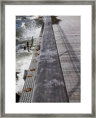 Sea Cliff Seawall Boardwalk Framed Print by Bob Slitzan