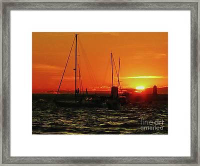 Sea Cliff Sunset Framed Print