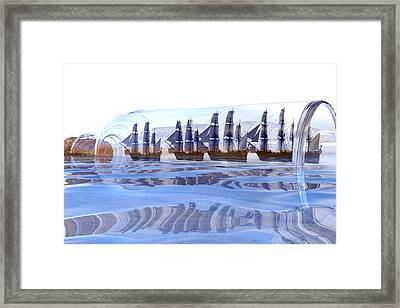 Bottled And Ready To Ship Framed Print by Betsy Knapp