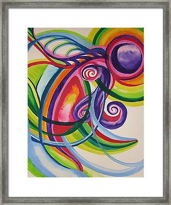 Framed Print featuring the painting Sea Creature by Erika Swartzkopf