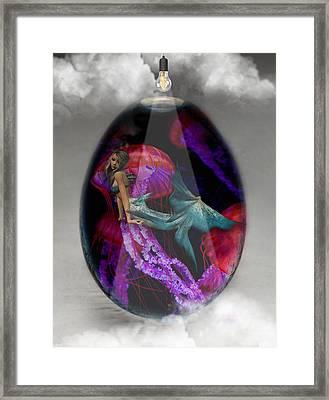 Sea Creature Mermaid Jellyfish Art Framed Print
