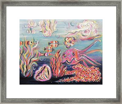 Sea Creatures Framed Print by Suzanne  Marie Leclair
