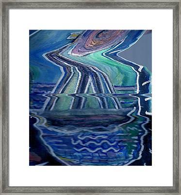 Sea Cruise Gone Wild Framed Print by Anne-Elizabeth Whiteway