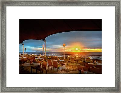 Framed Print featuring the photograph Sea Cruise Sunrise by John Poon