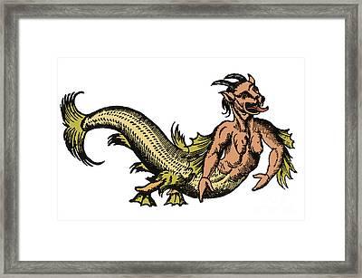 Sea-devil, Legendary Monster, 16th Framed Print by Science Source