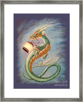 Sea Dragon And Lantern Framed Print