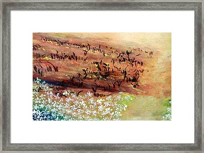 Framed Print featuring the painting Sea Earth  by Winsome Gunning
