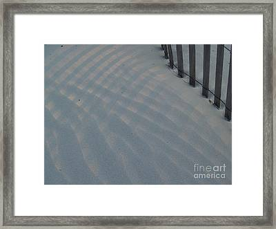 Sea Fence At Hunting Island Framed Print by Anna Lisa Yoder