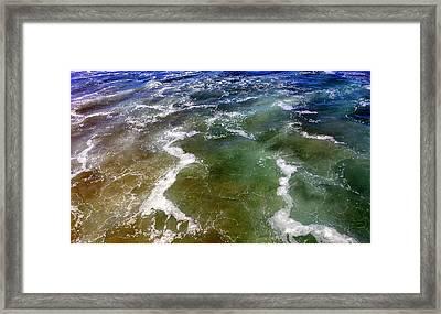 Artistic Ocean Photo Framed Print